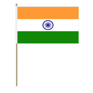 India Country Hand Flag, large.